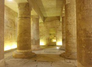 de Osiris kapel in Abydos tempel